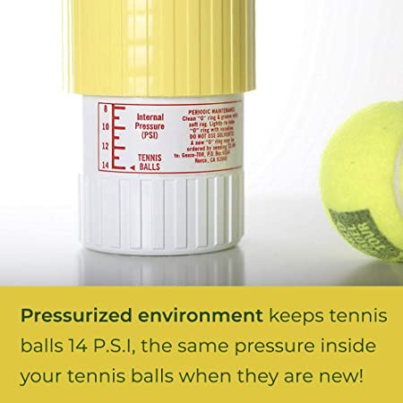 Gexco Tennis Ball Saver - Pressurized Tennis Ball Storage That Keeps Balls Bouncing Like New