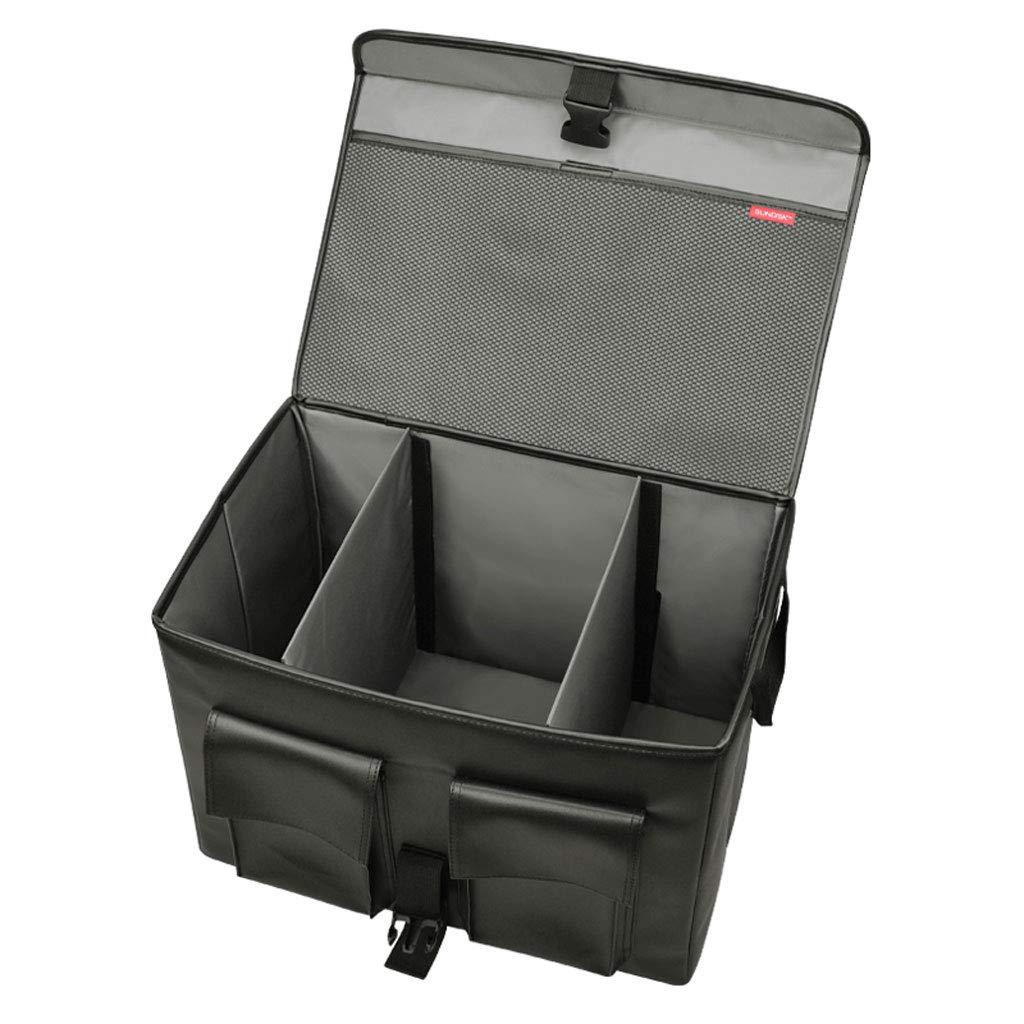 YYQX Organisateur de Coffre de Voiture Velcro, Pliable Cuir d'unité Centrale imperméable pour Camion SUV et intérieur,Doublelayer