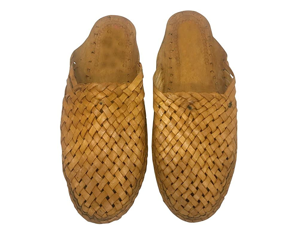 US Mens Kolhapuri Shoes Ethnic Shoes Indian Shoes Natural Leather Chappal SS4