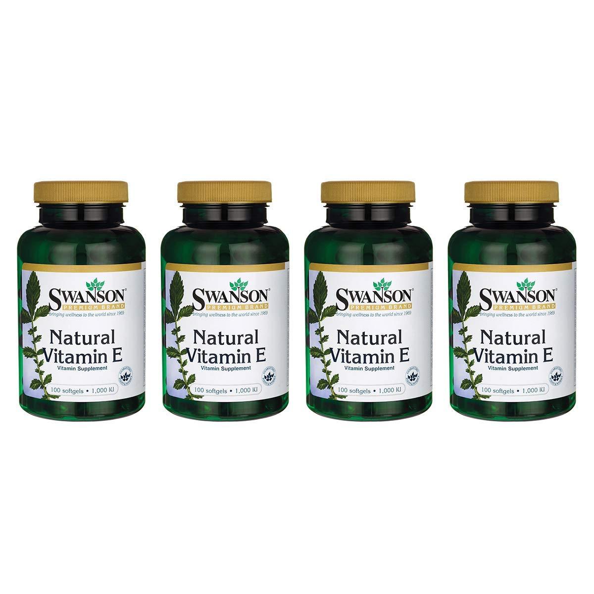 Swanson Natural Vitamin E 1000 Iu (671.10 Milligrams) 100 Sgels (4 Pack) by Swanson