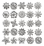 L'vow Rhinestone Crystals Brooches Collar Pin Bouquet Kit Pack of 24(silver)