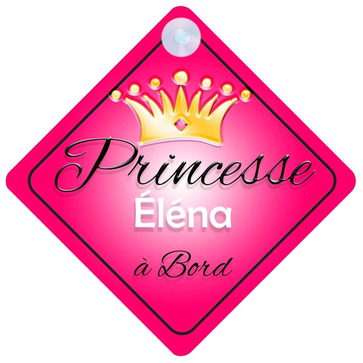 Princesse 001 Éléna Signe Pour Voiture Enfant/Bébé à Bord