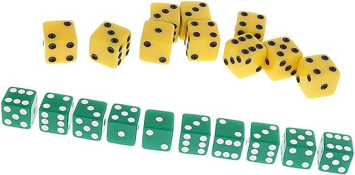 Baoblaze 20 Piezas De Plástico De Seis Lados Dados Sopt Digital Dices Toy para Dados De Juegos De Mesa: Amazon.es: Juguetes y juegos