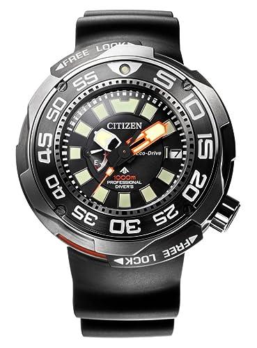 EMTECH la costa 50252 1000 M reloj de buceo profesional con válvula de helio amarillo Dial y Correa de caucho de color negro: Amazon.es: Relojes