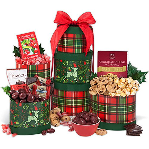 Reindeer Holiday Gift Tower - Christmas Gift Basket