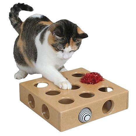 Legendog Juguete para Gatos, Cat Juguete Interactivo para Gatos 9 Hoyos Juguete para Entrenamiento Bon