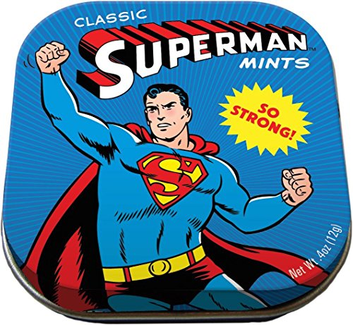 The Unemployed Philosophers Guild Superman Mints - 1 Tin of Mints - DC Comics Licensed (Best Food Gifts From Dc)