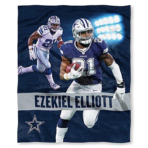 The Northwest Company Officially Licensed NFL Dallas Cowboys Ezekiel Elliott Players HD Silk Touch Throw Blanket, 50