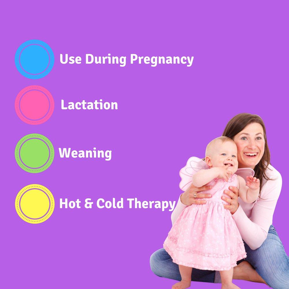 2 fundas para el dolor y la hinchaz/ón 3 en 1 para terapia de fr/ío en caliente paquetes de hielo 2 unidades de almohadillas para pechos almohadillas de gel por Max Strength Pro