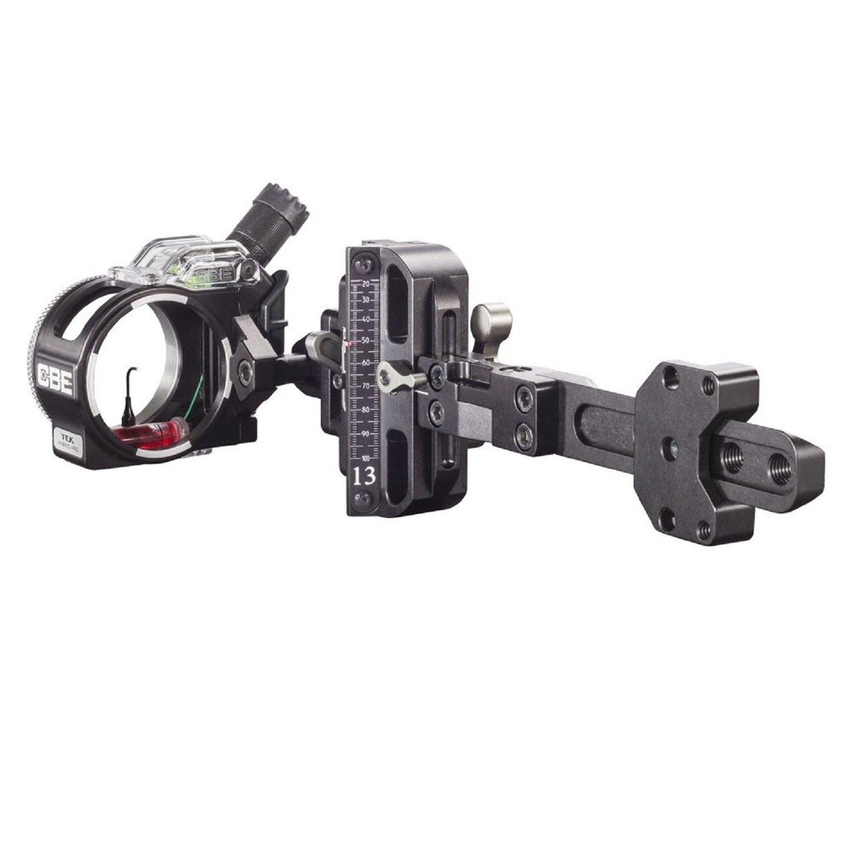 CBE Tek Hybrid Pro 1 Pin Housing archery sights, Black/Green