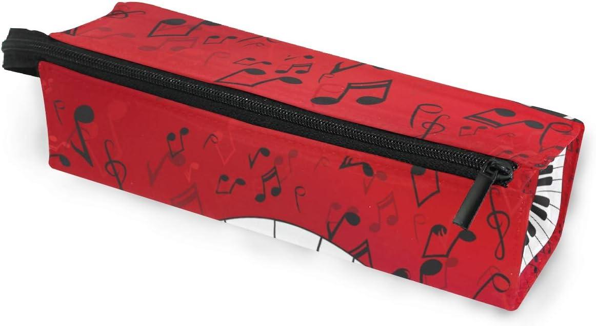 Estuche para lápices Gafas de sol Música Resumen Piano con partituras Cosméticos Estudiantes Papelería Bolsa Cremallera para niñas: Amazon.es: Oficina y papelería