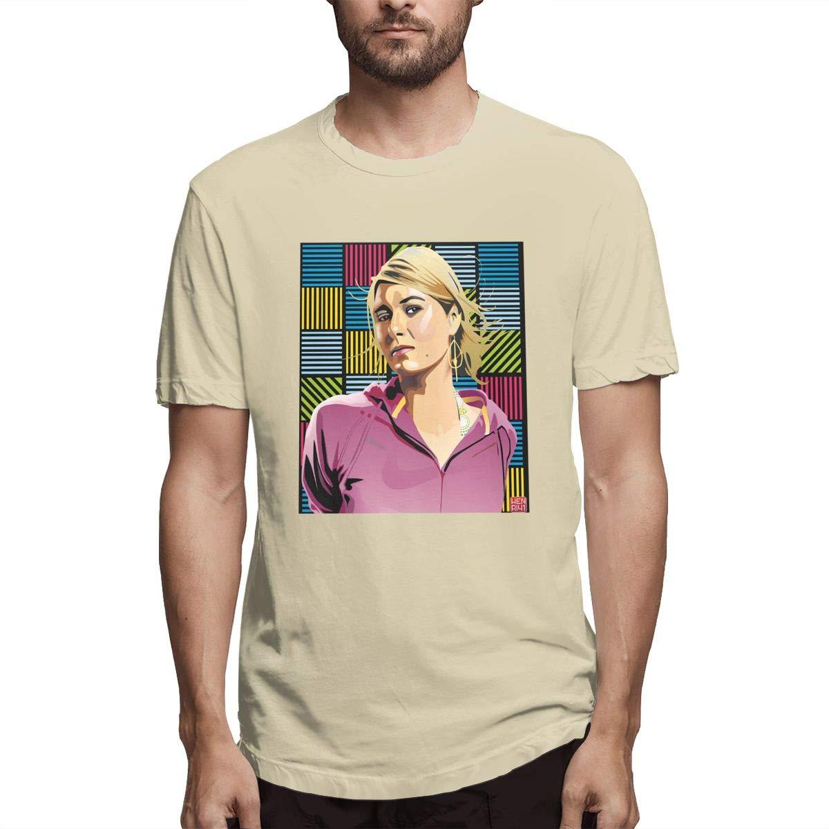 S Short Sleeve Maria Sharapova Cartoon Crew Neck Shirts