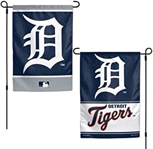 WinCraft MLB Detroit Tigers 12x18 Garden Style 2 Sided Flag, One Size, Team Color