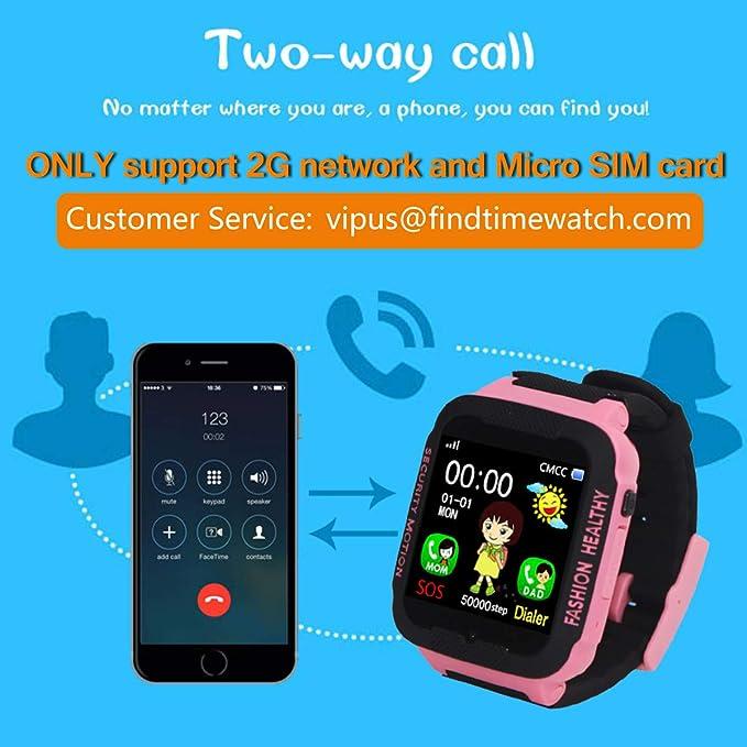 Reloj inteligente para niños con rastreador GPS y mando a distancia para niños y niñas, color azul: Amazon.es: Relojes