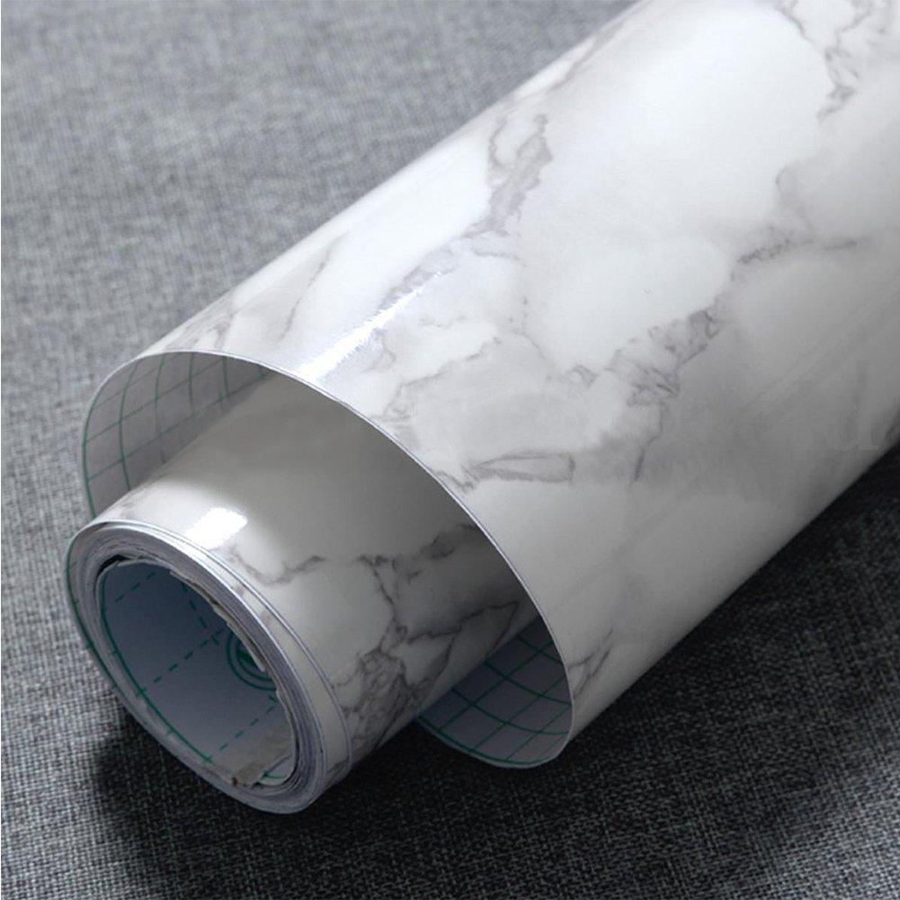 GEZICHTA - Papel pintado de má rmol granito - Material PVC, duradero, impermeable y fá cil limpieza impermeable y fácil limpieza