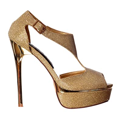 Amazon.com | Onlineshoe Women&39s Sparkly Shimmer Gold or Silver