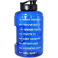 QuiFit Gallon Water Bottle Portable Handle BPA Free Plastic Sports Water Jug Wide Mouth Leakproof Outdoor Gym Travel