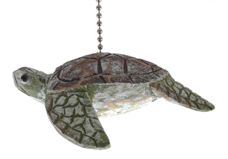 Tropical Ocean Reef Sea Turtle Ceiling Fan Pull Chain Wooden Three Dimensional