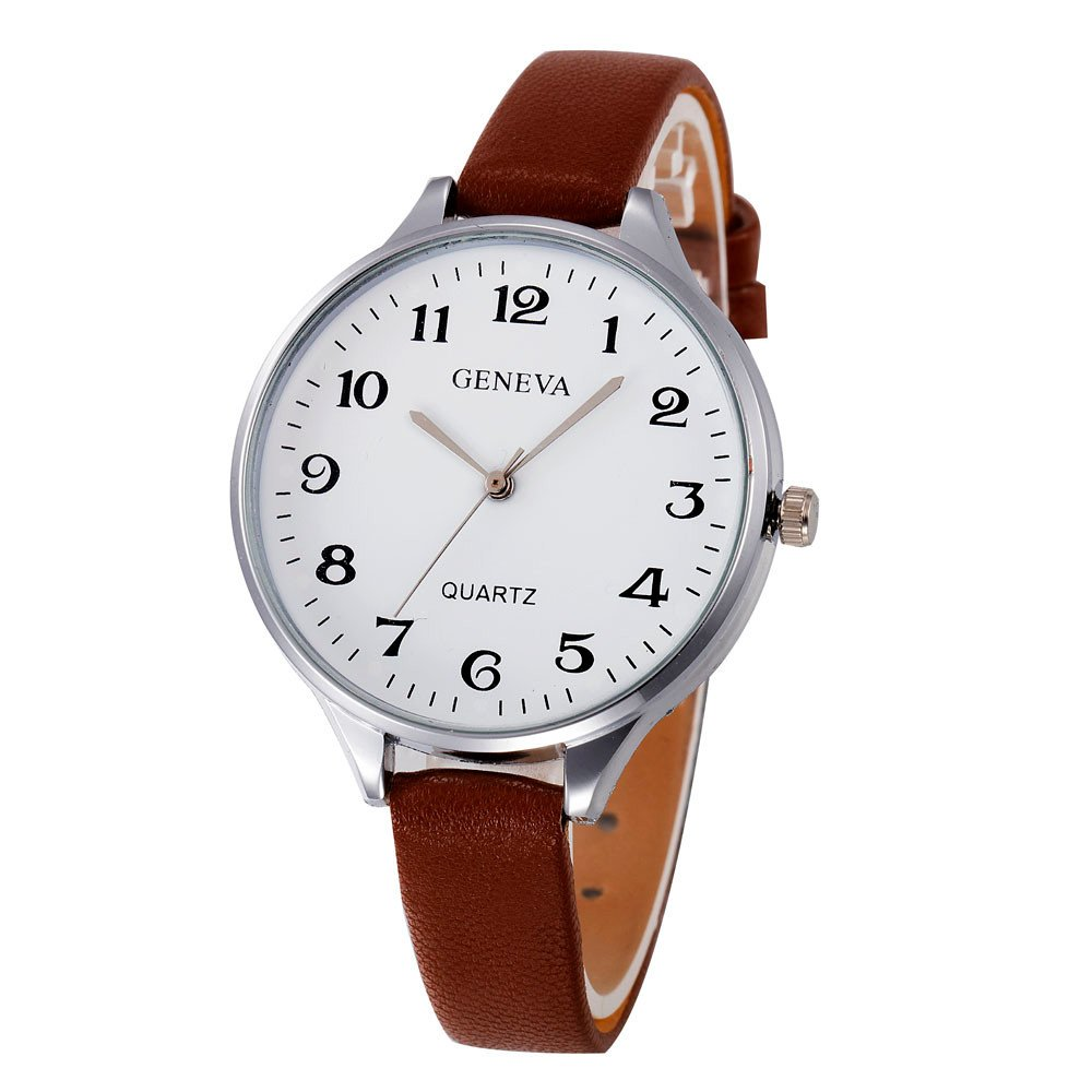 Eduavar Womens Watches Sale Clearance Women Checkers Analog Quartz Watch Fashion Wrist Watch Casual Business Bracelet Watches Gift Round Dial Case Leather Band Watches