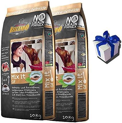 2x 10kg belcando Mix It Grain Free Perros Forro como set + regalo