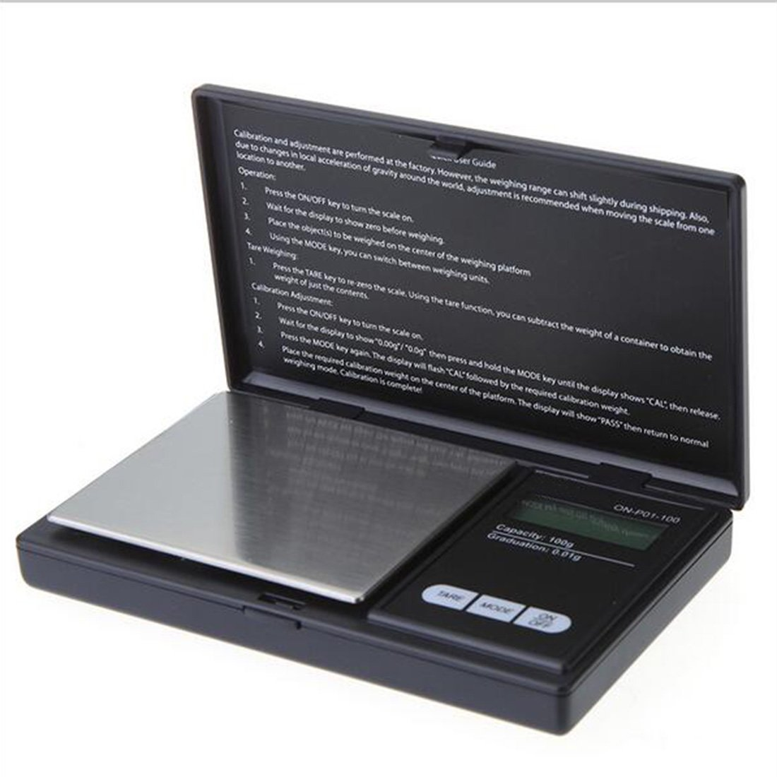 100g/0.01g Mini Digital Pocket Precision Scale Jewelry Scale Electronic LCD Scale Clamshell, Light and portable Luwu-Store