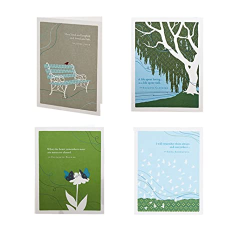 Always In Our Hearts Sympathy Bundle By Positively Green Set Of 4 Different Greeting