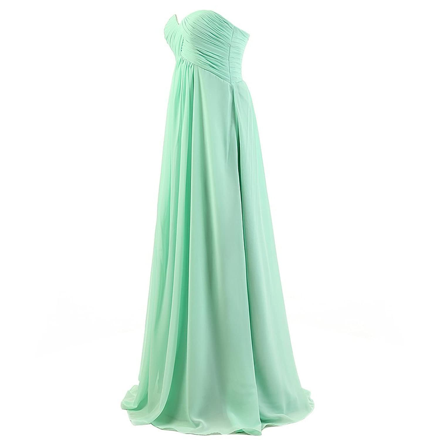 Tngan Sweetheart Bridesmaid Chiffon Prom Dresses Long Evening Gowns ...