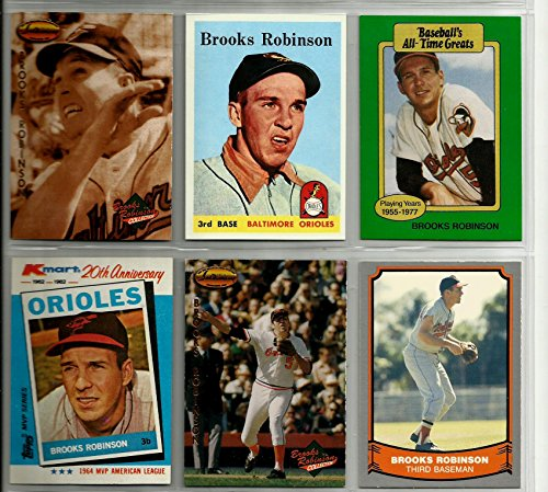 brooks-robinson-baltimore-orioles-baseball-card-lot-6-1993-ted-williams-card-co-1989-hygrade-1958-re