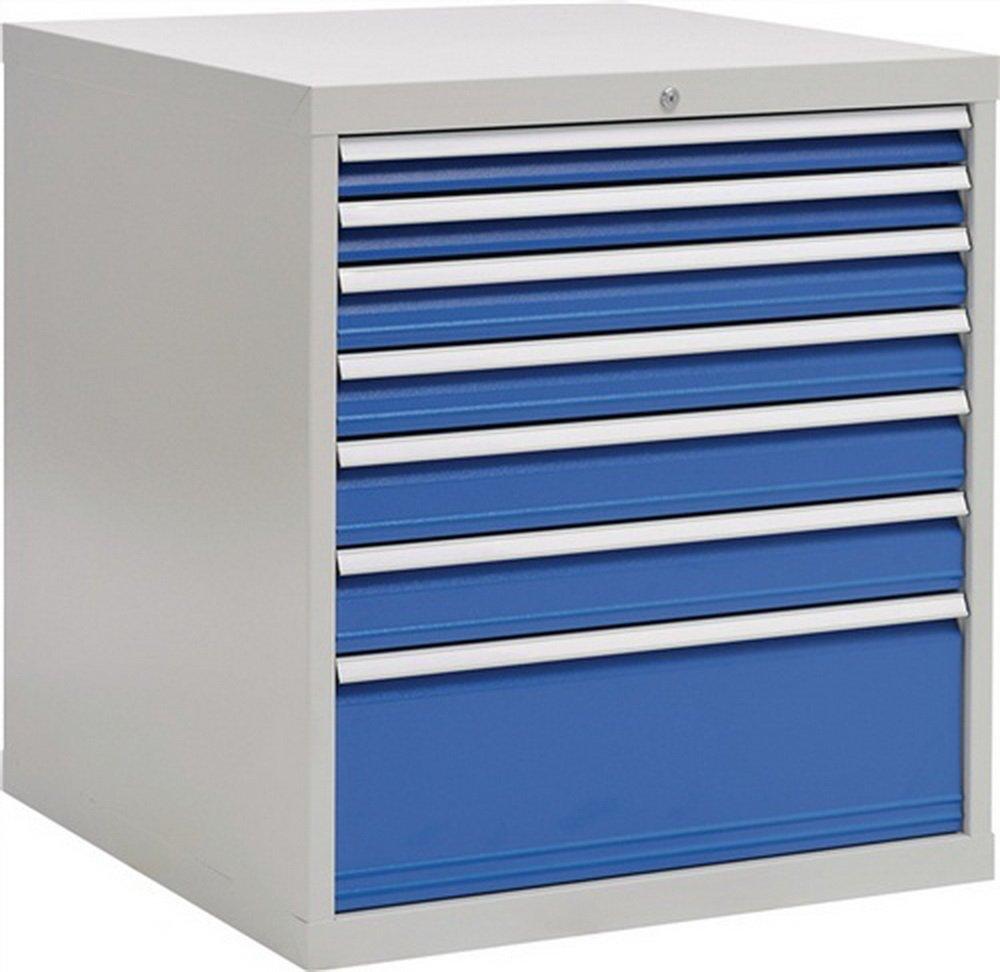 Schubladenschrank H1019xB1005xT736 grau/blau 2x75 2x100 2x125 1x300
