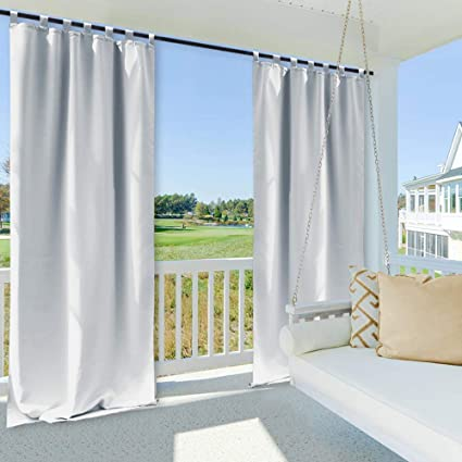 Amazon Com Nicetown Outdoor Curtain For Front Porch Thermal