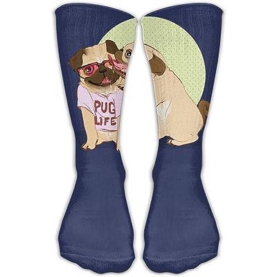 YUANSHAN Socks Love Pug Life Women & Men Socks Soccer Sock Sport Tube Stockings Length 11.8Inch