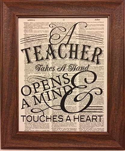 Teachers Quote Dictionary Book Page Artwork Print Picture Poster Home Office Bedroom Nursery Kitchen Wall Decor - unframed