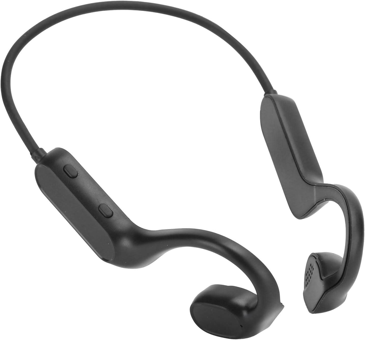 T angxi Auriculares inalámbricos de conducción ósea, Auriculares con reducción de Ruido CVC de conducción ósea, inalámbricos, Impermeables, Deportivos, sin Dolor, montados en la Cabeza Bluetooth 5.1