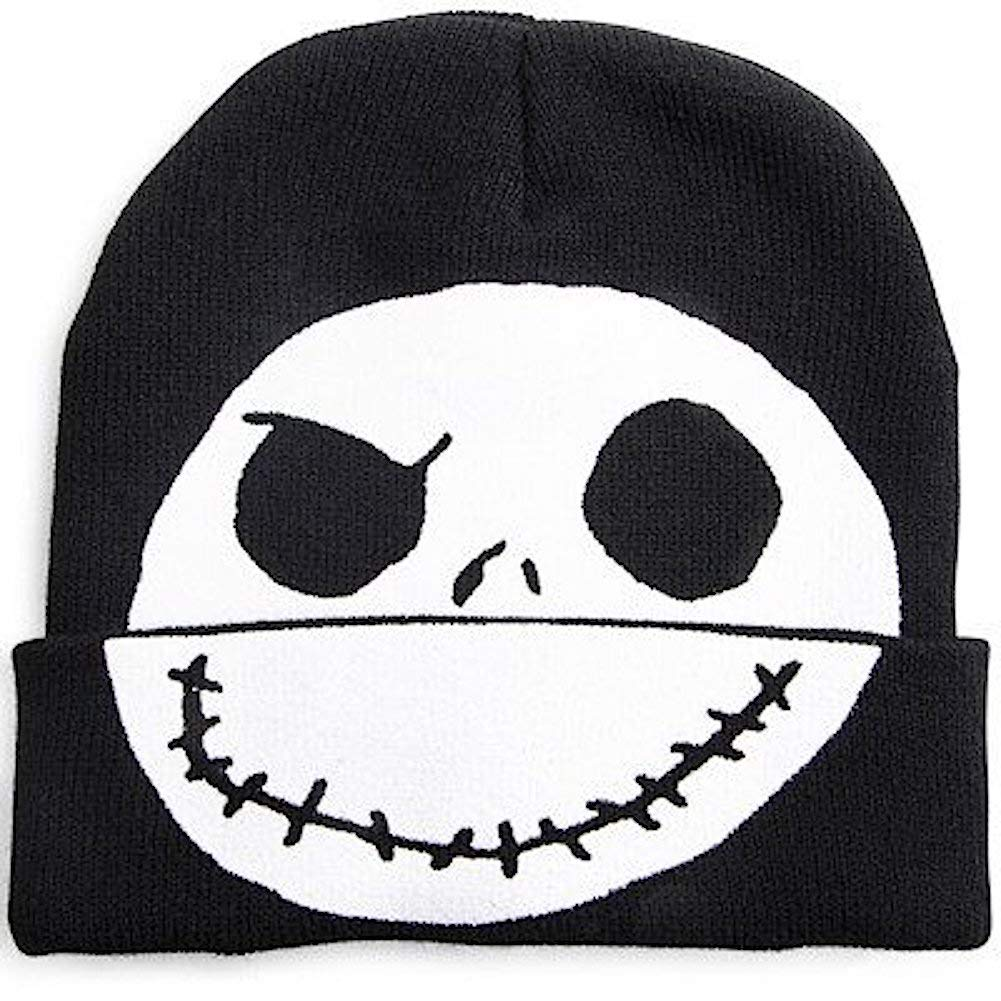 Disney Nightmare Before Christmas Jack Skellington Flip-Down Beanie Hat