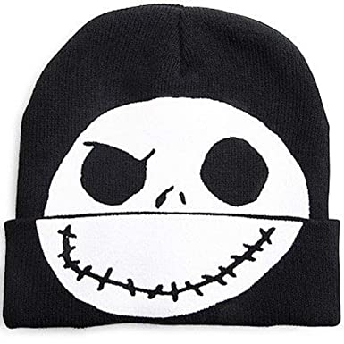 e58bd16fd18 disney nightmare before christmas jack skellington flip-down beanie ...
