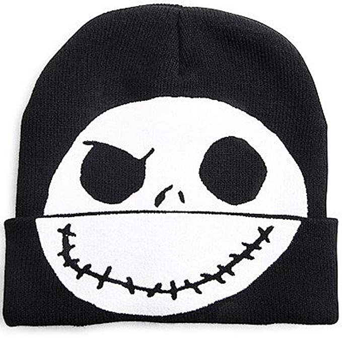 dfbce686de0c1 Disney Nightmare Before Christmas Jack Skellington Flip-Down Beanie ...