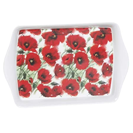 Red poppy flowers floral hard plastic food serving tray amazon red poppy flowers floral hard plastic food serving tray mightylinksfo