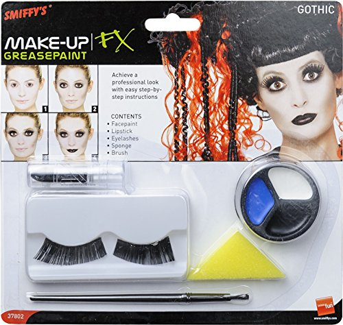 SMIFE Smiffys Gothic Make-Up Set with Facepaint Lipstick -