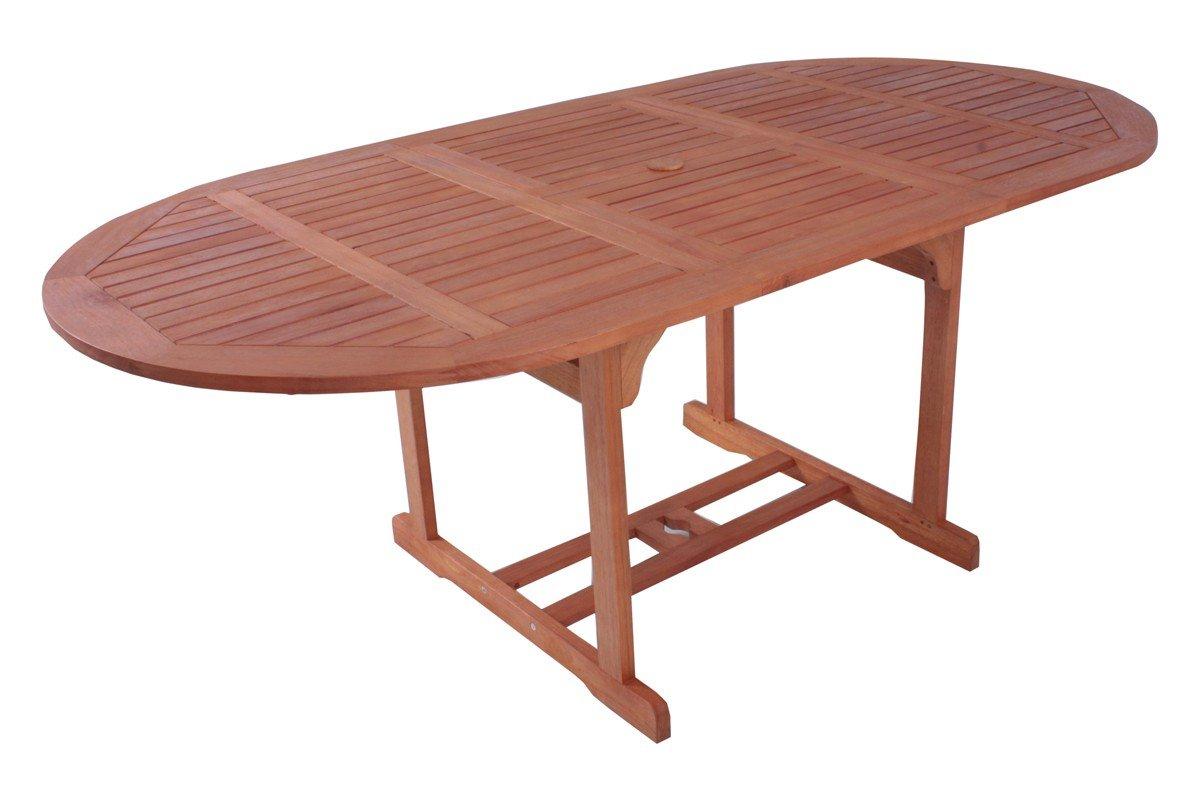 gro er garten tisch esstisch outdoor terrasse balkon garten tisch zum ausziehen aus holz ge lt. Black Bedroom Furniture Sets. Home Design Ideas