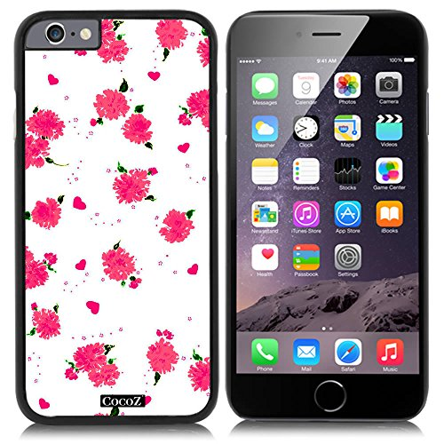 Price comparison product image CocoZ New Apple iPhone 6 s 4.7-inch Case Beautiful flower pattern PC Material Case (Black PC & Beautiful flower 14)
