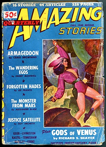 Amazing Stories Quarterly Pulp Fall 1948-GODS OF VENUS- Armageddon G