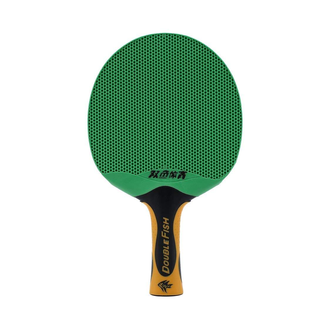 Doble Pescado Deportes al Aire Libre para Interiores Tenis Impermeable para Tenis de Mesa Portátil Durable Caucho Plástico Ping-Pong Paleta Laurelmartina