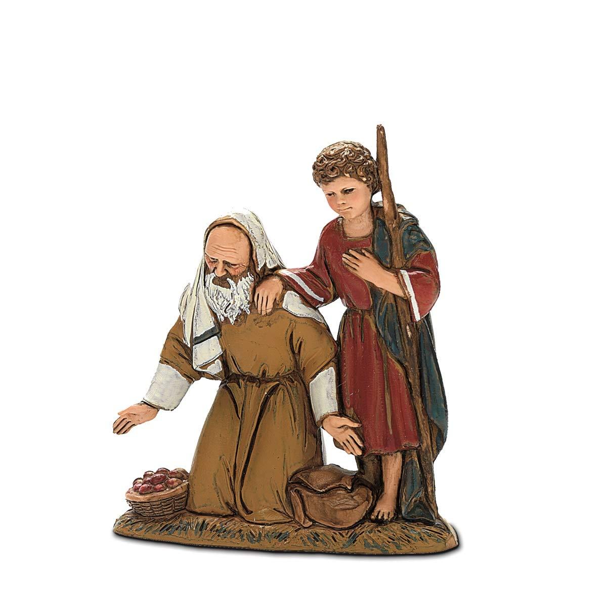 Moranduzzo Inginocchiato con Bimbo, 10 cm Argenplast 420102715