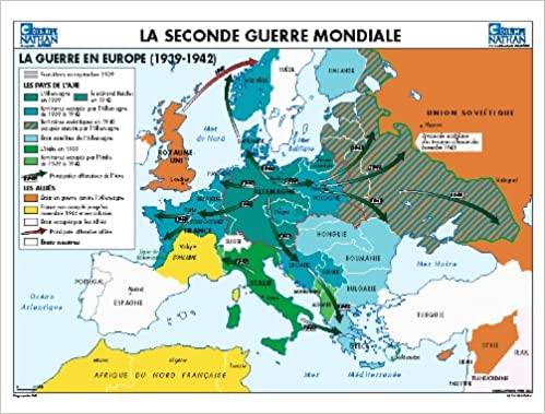 Carte De Leurope En 1942.Carte Seconde Guerre Mondiale Amazon Co Uk Collectif