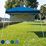 Sundale Outdoor 8 x 8 FT Heavy Duty Pop Up Canopy Waterproof UV-Protected Gazebo Portable Instant Shade Folding Shelter Patio Wedding Party Tent with Carrying Bag (Navy Blue)