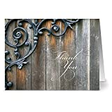 24 Thank You Note Cards - Thankful With Style - Blank Cards - Off White Ivory Envelopes Included