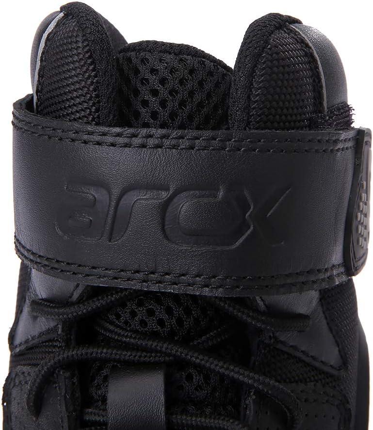 Chaussures de Moto pour Hommes Bottes de Moto en Peau de Vache Anti-Lutte /ét/é Respirant Moto Racing Chaussures EU 39 Noir