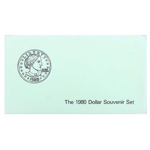 1999 Susan B Anthony Dollars Souvenir 2 Coin Set P D Mint Envelope SBA Dollar
