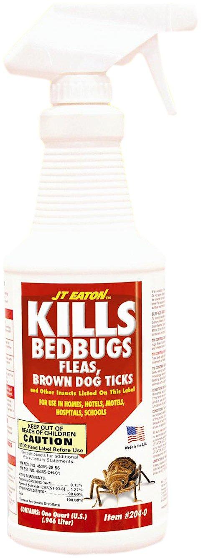 JT Eaton 204-O/CAP Kills Bedbugs Oil Based Bedbug Spray with Sprayer, 1-Quart