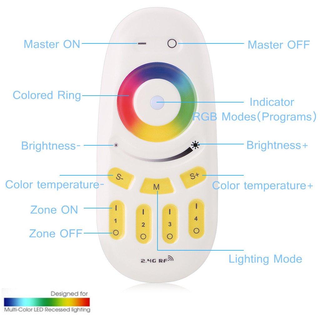 Rgb Par À Lampe Chambre 45×45×10cm Avec Couleurs De Réglables Floureon Télécommande Plafonnier Eclairage Salon Led wZN08nOPkX